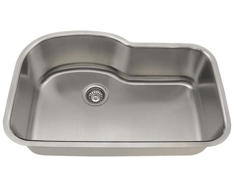 346 Offset Single Bowl Stainless Steel Sink