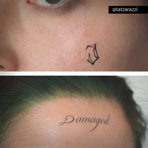 joker temp tattoo jared leto s joker damaged and j temporary tattoos by
