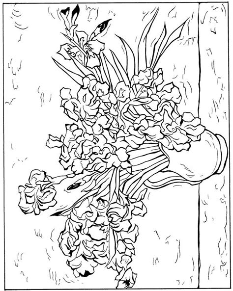 coloring pages vincent van gogh free coloring pages of van gogh sunflowers