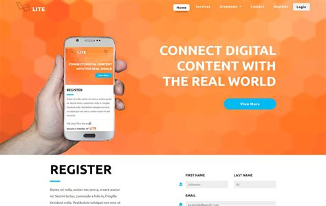 a template mobile app website templates designs free