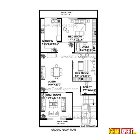 200 gaj in square feet house plan for 30 feet by 60 feet plot plot size 200