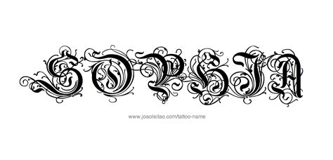 tattoo design with names name designs