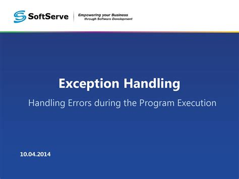 repository pattern exception handling c exception handling handling errors during the program