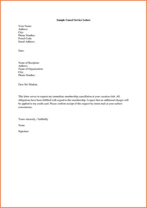 membership cancellation letter template free membership cancellation letter template free sles