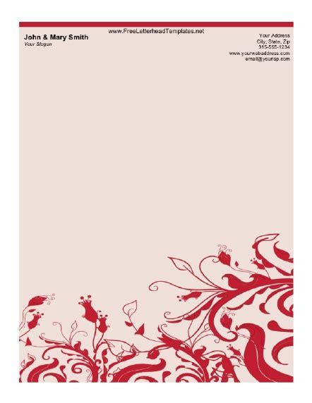 fancy letterhead templates free printable letterhead