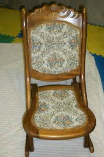 antique rocking chair price guide vintage antique folding wooden sewing rocking chair