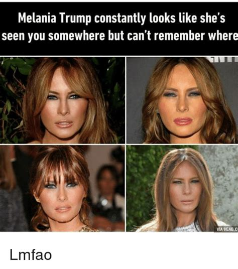 Looks Like She Has Experience With That by Melania Constantly Looks Like She S Seen You