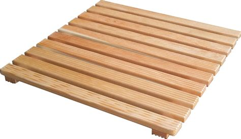Shower Tray Wooden Footboard by Shower Footboard Larch Wood 60x60 Cm For Base 80x80 Cm