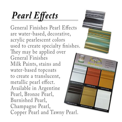 just in general finishes pearl effects generations home furnishings