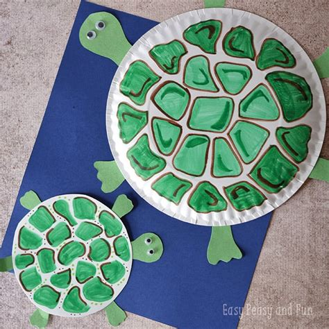 Paper Crafts For Teenagers - paper plate turtle craft easy peasy and