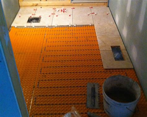 Ditra Heated Floor Cost - ditra heated floor installation carpet vidalondon