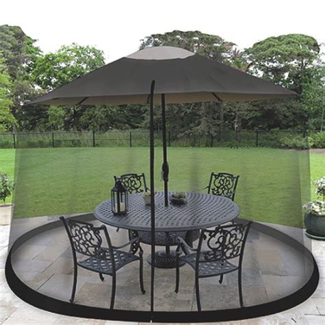 Outdoor Mosquito Net Patio Umbrella Bug Screen Gazebo Patio Umbrella With Netting