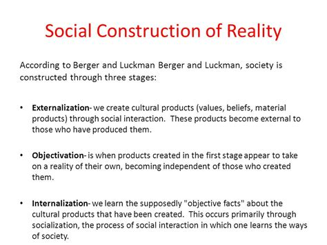 social construction of reality ppt