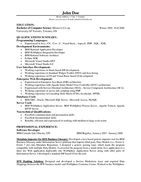 Sle Resume Of Java Architect Resume Sle Sr Java Developer Resume Java Resume Sle Senior Java Developer Resume