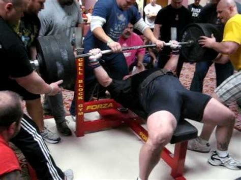 jim williams bench press james williams 3rd attempt of the day 850 and butt comes