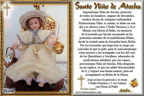 Oracion Al Santo Nino De Atocha | oracion del nino de atocha peques y pecas oracion al
