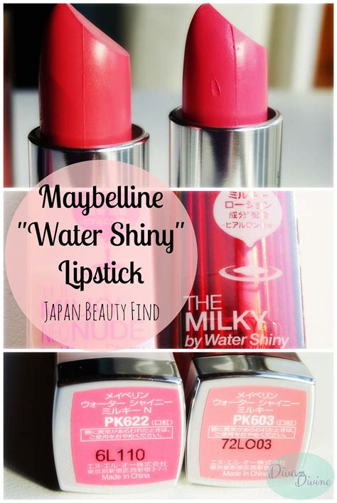 Lipstik Maybelline Glossy maybelline quot the quot by water shiny lipsticks and the