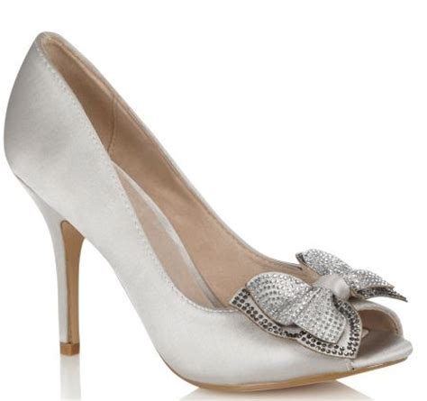 silver high heels with bows faith silver high heel bow peep toes gt shoeperwoman