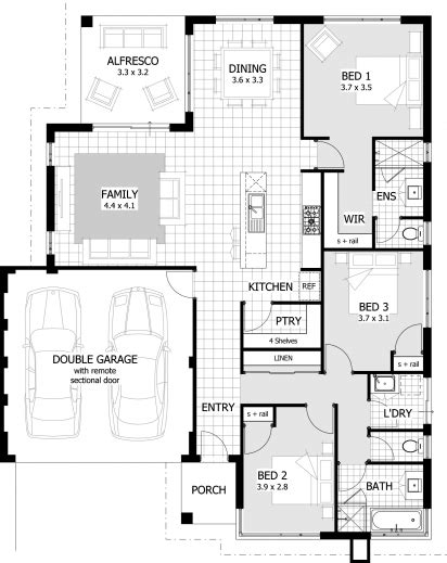 3 bed house floor plan simple floor plans bedroom house plan small bedrooms bathrooms bedroom house floor
