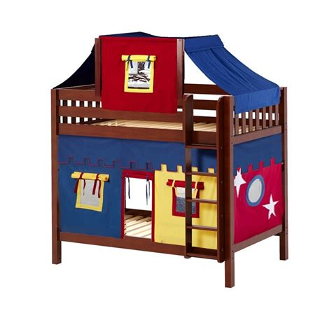 Top Bunk Bed Tent Maxtrixkids Alto29 Cs High Bunk Bed With Ladder Top Tent Underbed Curtains