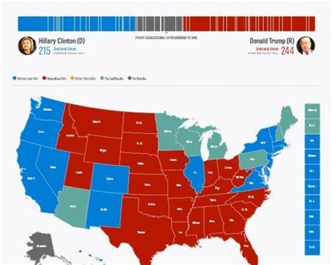 mapaor de elecciones usa 2016 resultados preliminares de elecciones presidencial de los