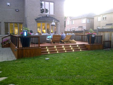 how to design a deck for the backyard toronto landscaping design interlock driveway paving company