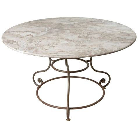 french large  iron base garden table  exceptional