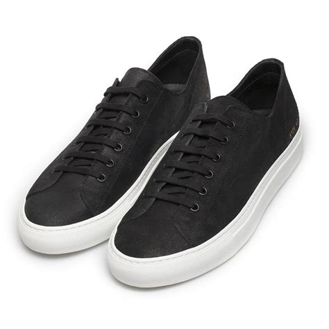 by common projects sneakers common projects tournament waxed suede low top sneakers in
