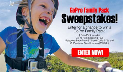 Gopro Sweepstakes - gopro family pack sweepstakes us only
