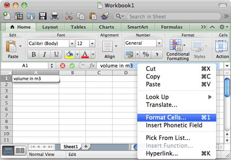 layout excel mac ms excel 2011 for mac create a superscript value in a cell