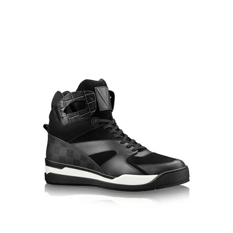 boot sneakers louis vuitton kick sneaker boot in black for lyst