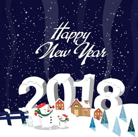 year banner snowy background snowman icons  vector  adobe illustrator ai ai