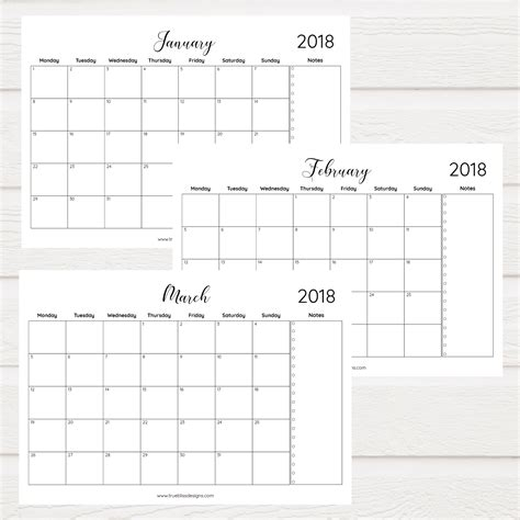 simple black and white printable planners true bliss designs