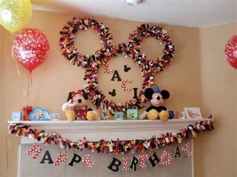 Mickey Mouse Birthday Decorations by Disney Mickey Mouse Birthday Ideas Photo 24 Of