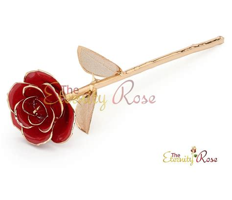 rose themed jewellery red matched set in 24k gold leaf theme glazed rose