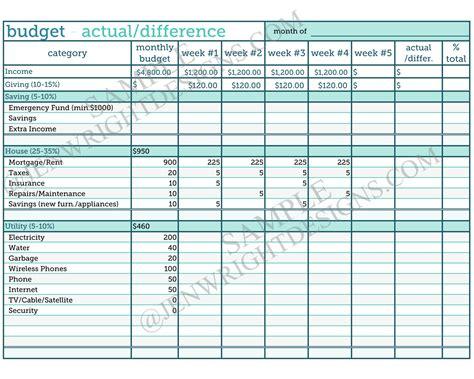 budget worksheet atbeachmonkeysnet