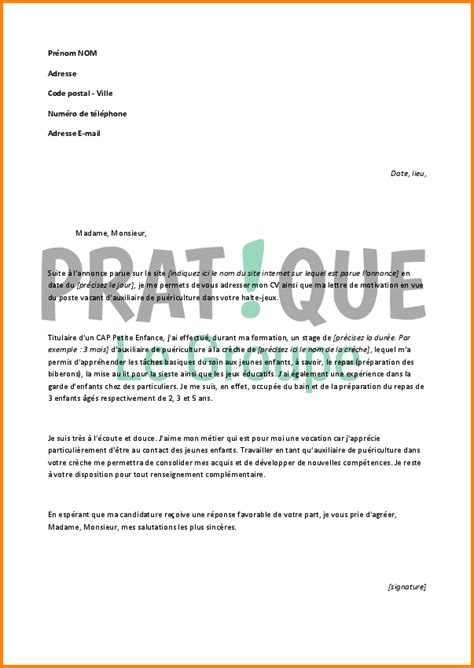 Exemple De Lettre De Motivation Pour Inscription En Doctorat Pdf 9 Lettre De Motivation Pour Creche Format Lettre