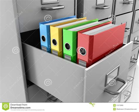 4 pics 1 word filing cabinet binder binder folders in filing cabinet royalty free stock image