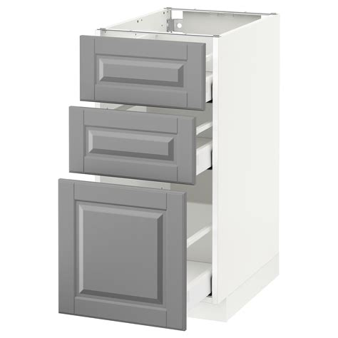Ikea Kitchen Base Cabinets by Metod Maximera Base Cabinet With 3 Drawers White Bodbyn