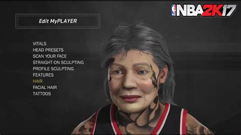nba 2k18 best tattoo customization tutorial for your nba 2k17 new grandma face scan glitch tutorial old lady