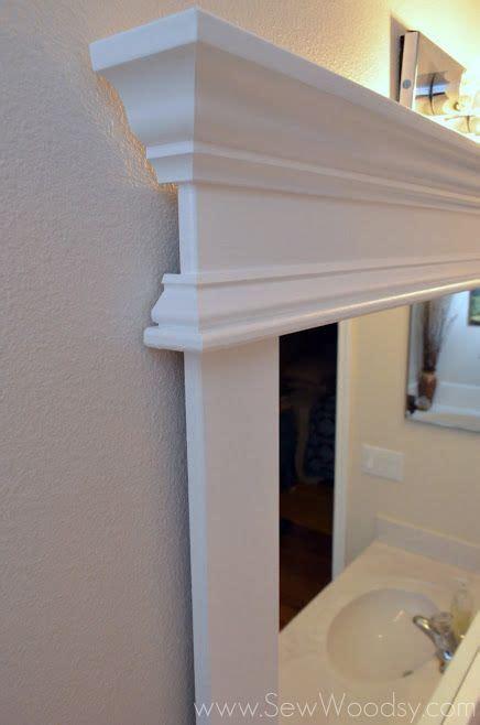 framing builder grade bathroom mirror video how to frame a builder s grade mirror via