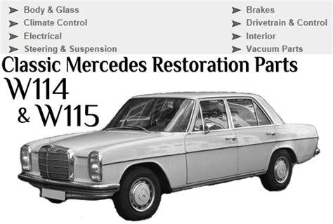 mercedes service and parts mercedes w114 w115 service repair parts