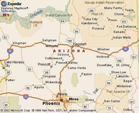sedona arizona where is sedona arizona on the map