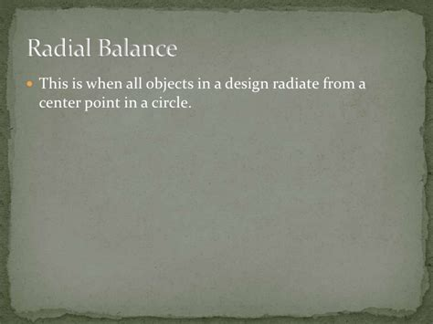 design elements radiate from a center point balance powerpoint