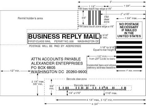 usps business reply mail template domestic mail manual s922 business reply mail brm