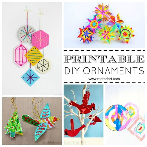christmas diy decorations printouts paper ornament diy ideas ted s