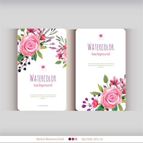 flower business card free vector download 30 901 free