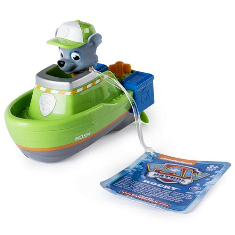 can paw patrol boat go in water paw patrol bath paddling pup boat rocky