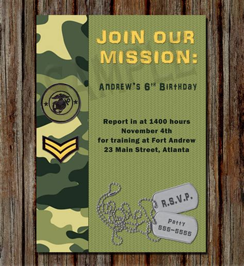 army birthday card template army birthday invitations army birthday invitations with a