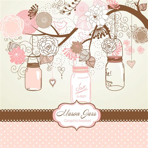 wedding scrapbook templates jars card template and digital papers clip